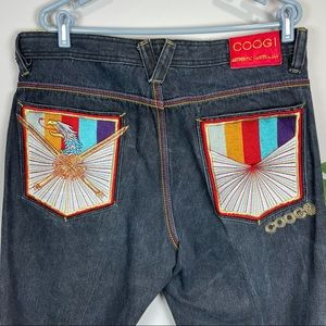COOGI embroidered jeans 38x34